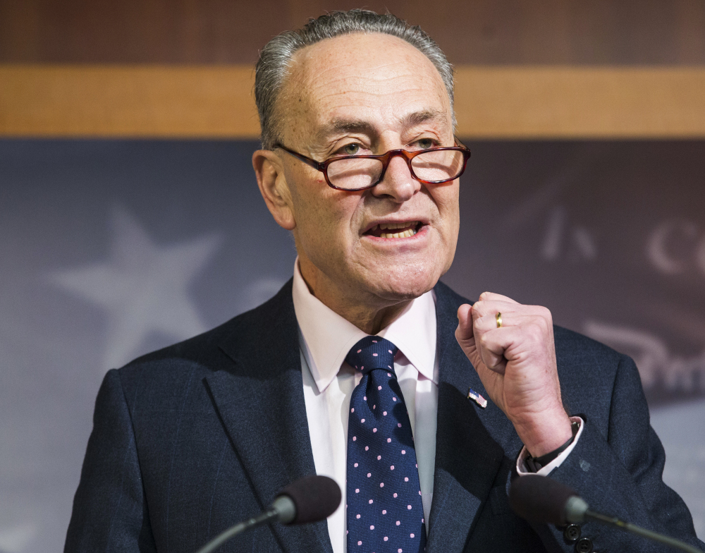 "Senate Minority Leader Charles Schumer said Wednesday that If Republicans rush tax reform, ""there will be many more Alabamas in 2018."""