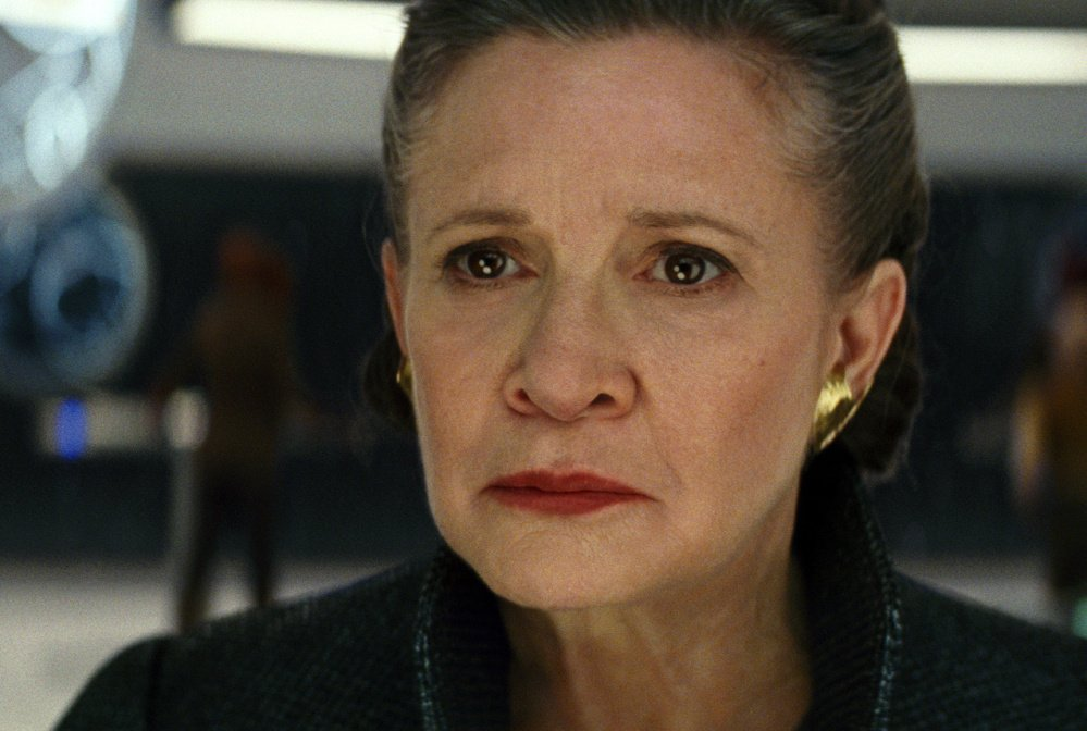 "Carrie Fisher, who starred as Princess Leia in the first ""Star Wars"" in 1977, reprised her character in ""The Last Jedi."""