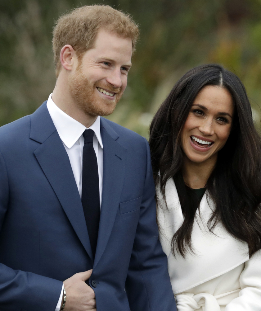 Britain's Prince Harry and his fiancee, Meghan Markle, will marry on May 19.