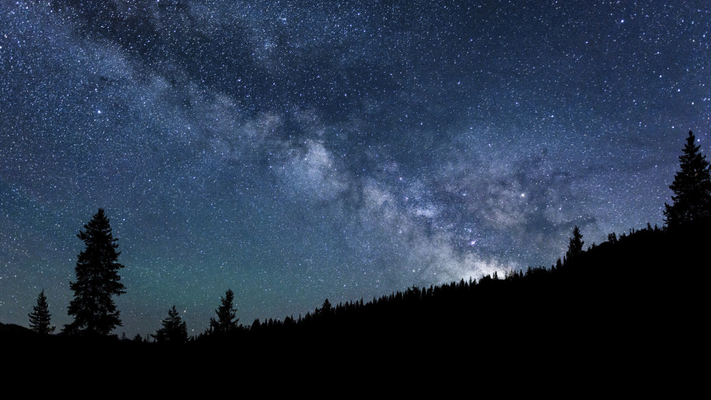 The Milky Way stretches across the night sky in central Idaho, where 1,400 square miles have been set aside for the nation's first International Dark Sky Reserve.