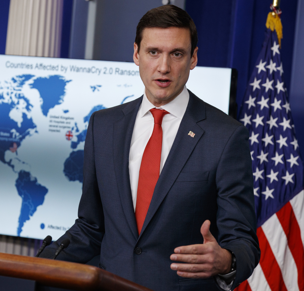 Homeland Security Adviser Tom Bossert blames North Korea for a ransomware attack that infected hundreds of thousands of computers.