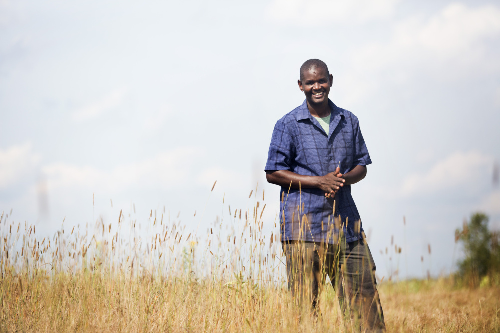 Hussein Muktar at New Roots Cooperative Farm.