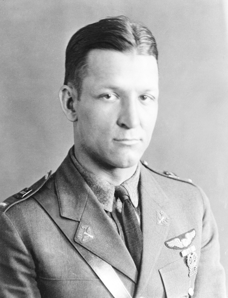 In this undated photo, Brig. Gen. Kenneth N. Walker is shown in uniform. Walker has been missing since the World War II raid on Rabaul, New Britain, on Jan. 5, 1943. A search for the aircraft, a B-17 nicknamed the San Antonio Rose, that disappeared near a Pacific island during the war is getting renewed attention before the 75th anniversary of its disappearance. The U.S. Senate passed a resolution Wednesday recognizing the lost crew and encouraging the continued effort to recover their remains.