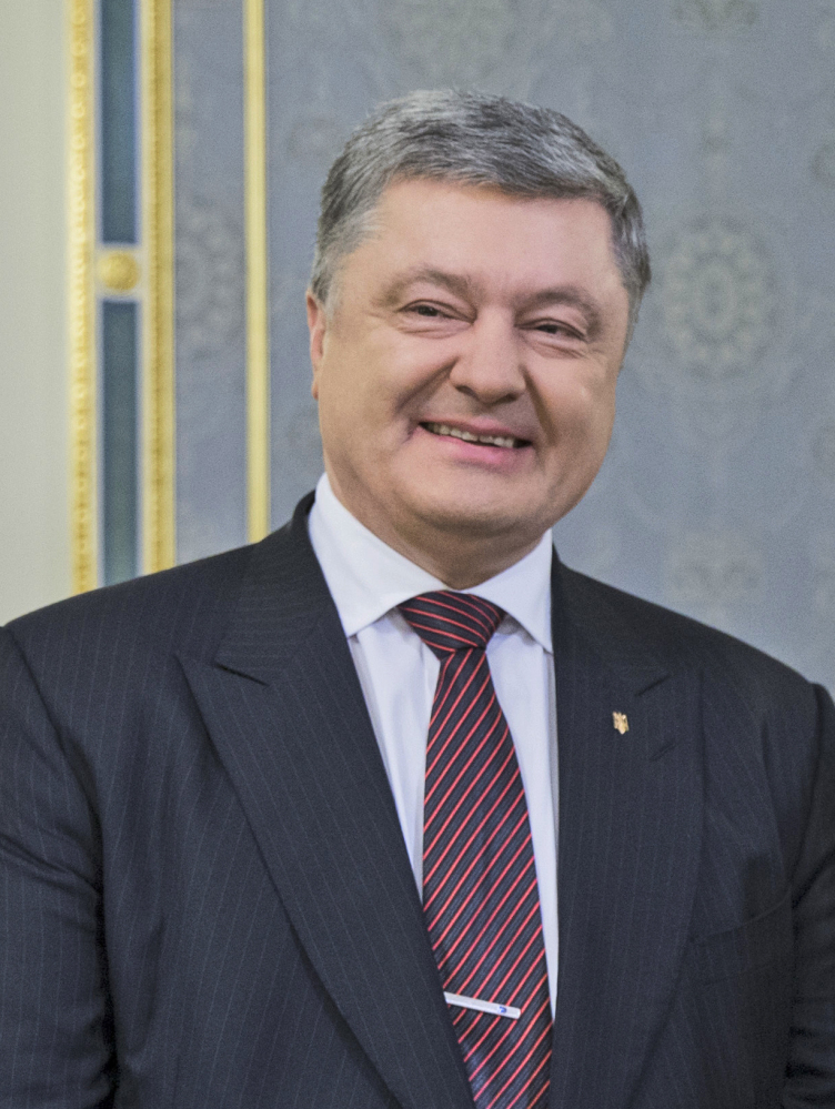 Ukrainian President Petro Poroshenko says weapons from the U.S. will only be used for self-defense.