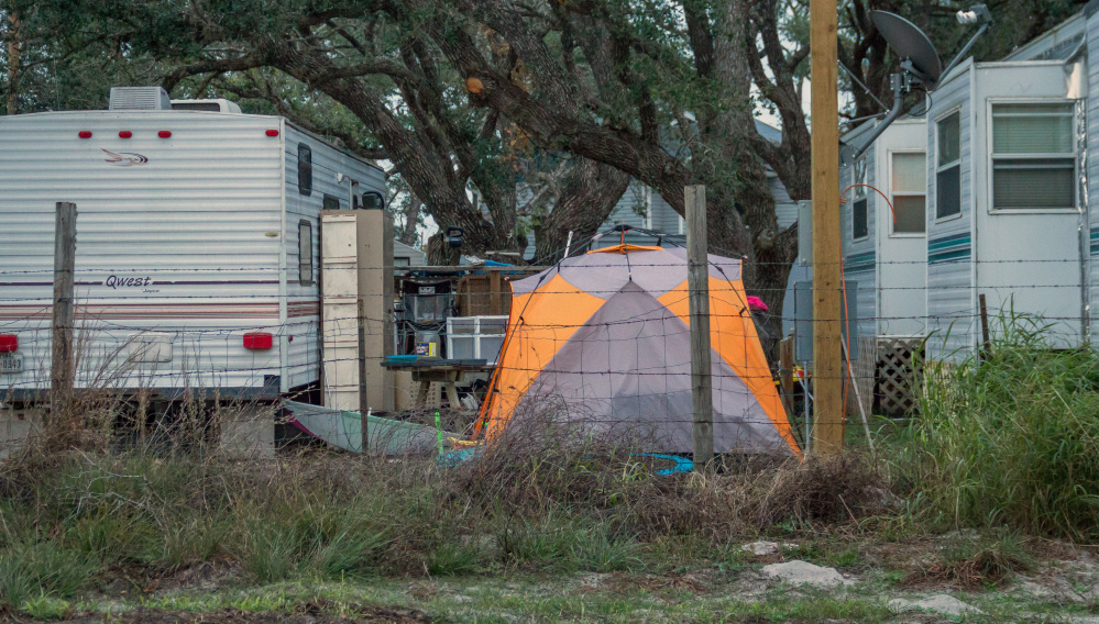 Some live in tents and trailers in Rockport, Texas, since Hurricane Harvey hit. After just 18 months of use, the FEMA trailers are auctioned online for pennies on the dollar. maintenance or labor _ on the trailers it leases to disaster victims, then auctions them at cut-rate prices after 18 months of use or the first sign of minor damage. Officials have continued the practice even amid a temporary housing shortage in Texas, where almost 8,000 applicants are still awaiting federal support nearly four months after Hurricane Harvey landed in the Gulf Coast.