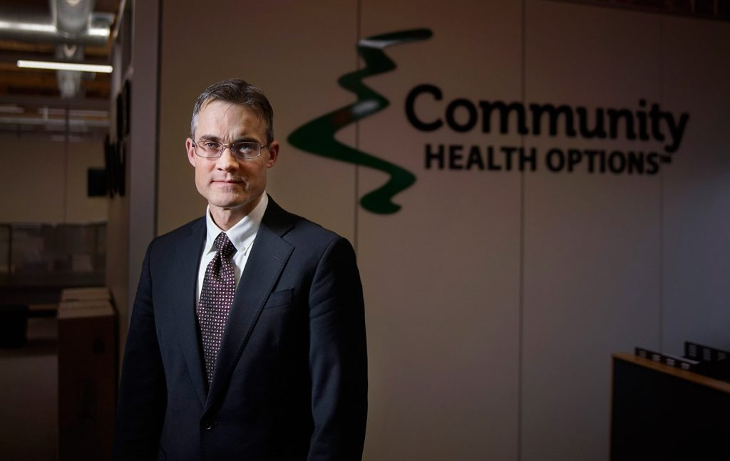 Kevin Lewis, CEO of Community Health Options, his given Mainers a viable option for insurance under the ACA.