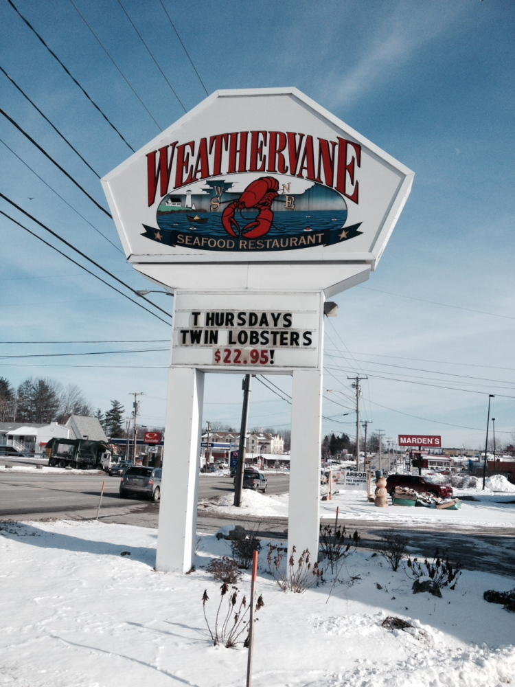 The Waterville Planning Board will consider a proposal from Marden's Surplus & Salvage for a strip mall where the Weathervane restaurant once stood on Kennedy Memorial Drive.