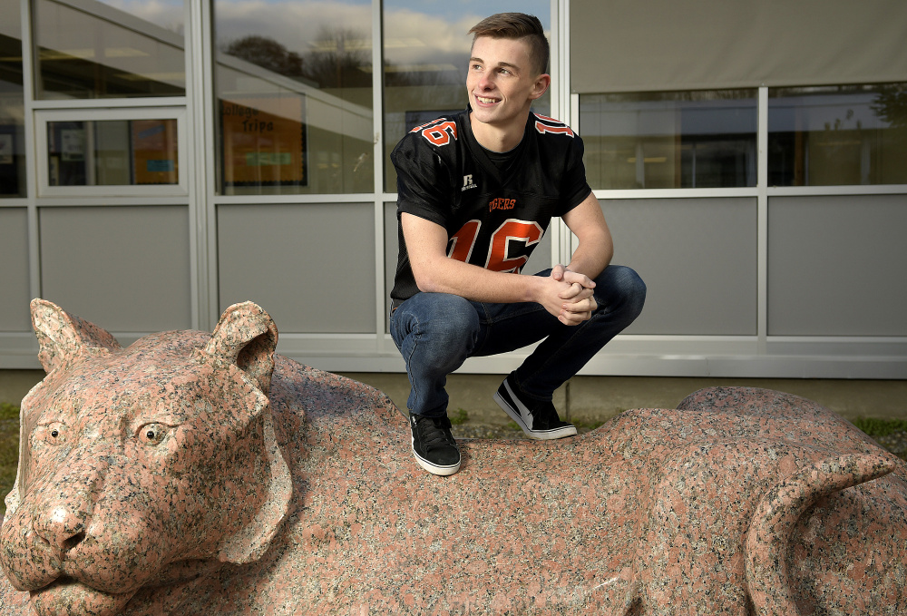 Gardiner senior Collin Foye is the Kennebec Journal Football Player of the Year.