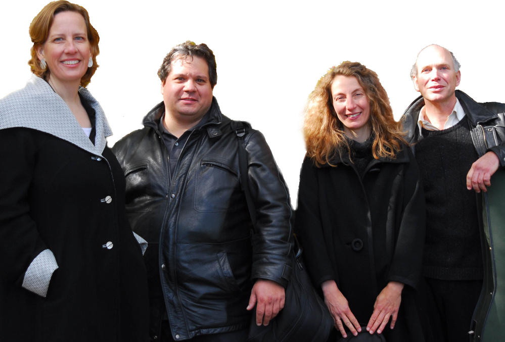 The DaPonte String Quartet, from left, Kirsten Monke, viola; Ferdinand Liva, violin; Myles Jordan, cello; and Lydia Forbes, violin.