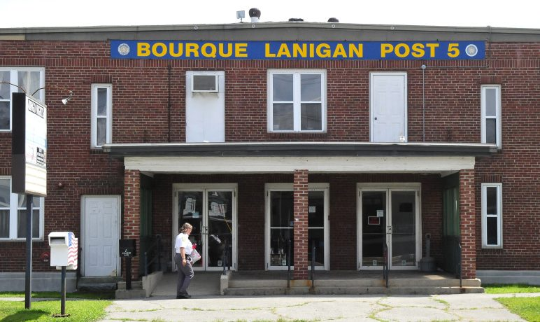 The former American Legion Hall, Bourque Lanigan Post 5, seen on Aug. 14 in Waterville.