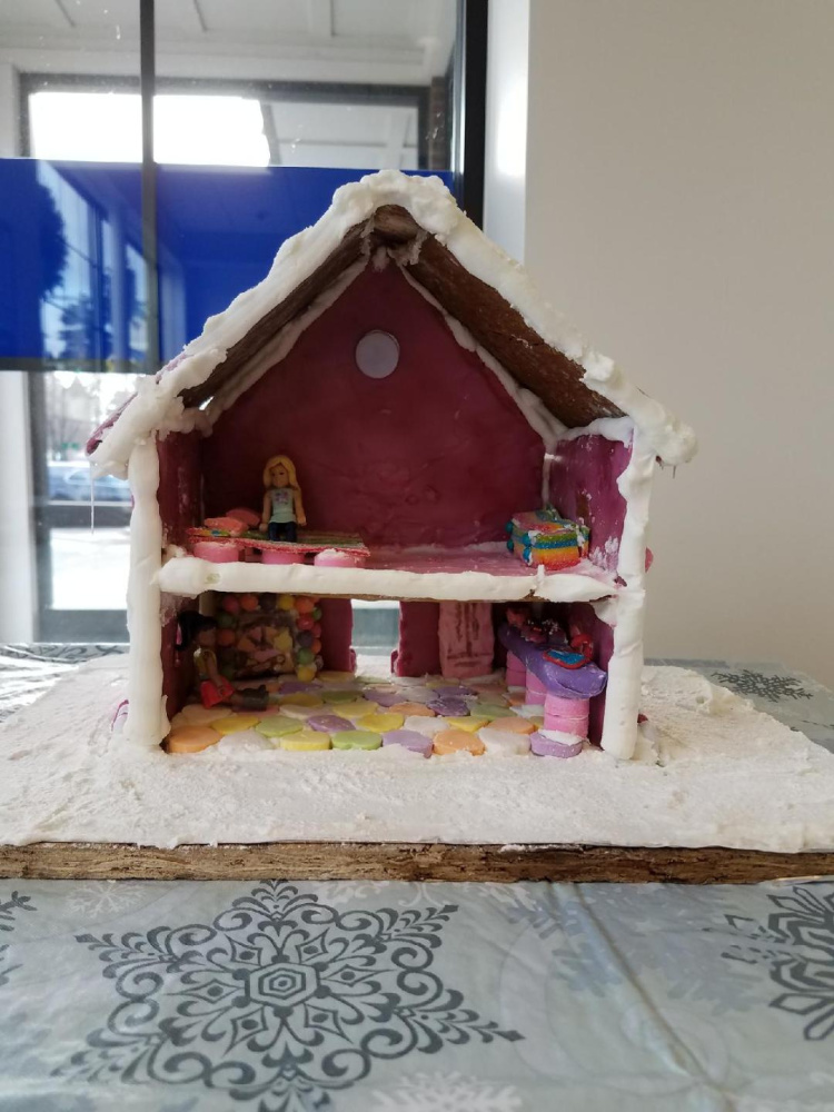 Natalie McCarthy's gingerbread house entry.
