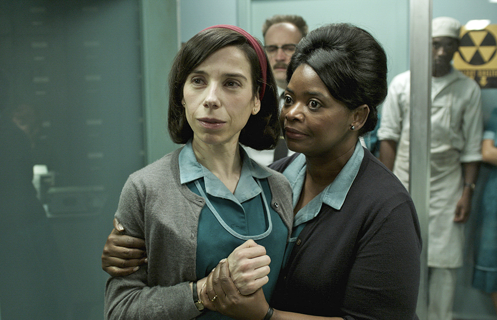 "Sally Hawkins, left, and Octavia Spencer in a scene from the film ""The Shape of Water."" Hawkins was nominated for an Oscar for best actress on Tuesday. The 90th Oscars will air on ABC on Sunday, March 4."