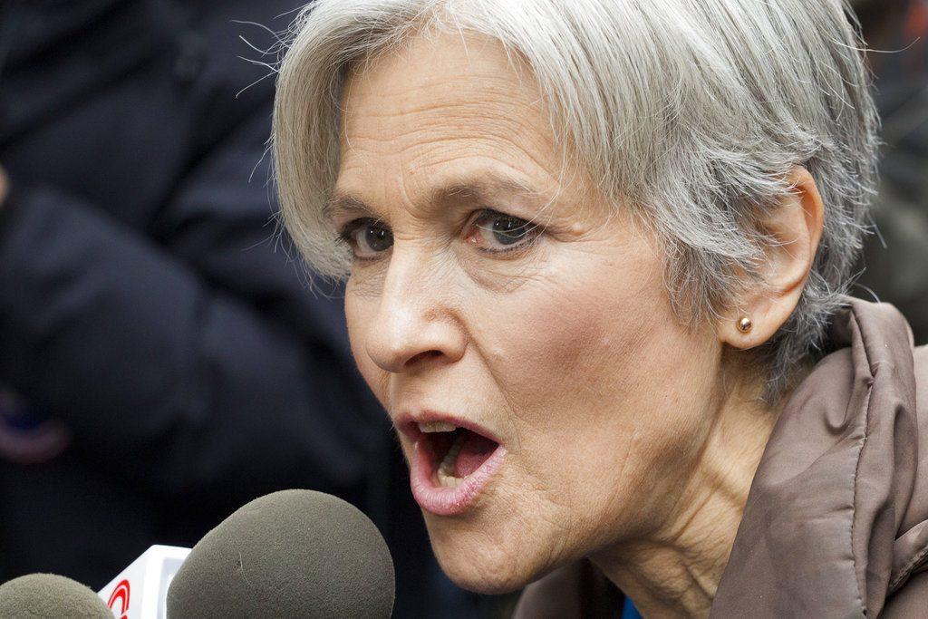 Jill Stein, the presidential Green Party candidate, speaks at a news conference in front of Trump Tower in New York on Dec. 5, 2016.