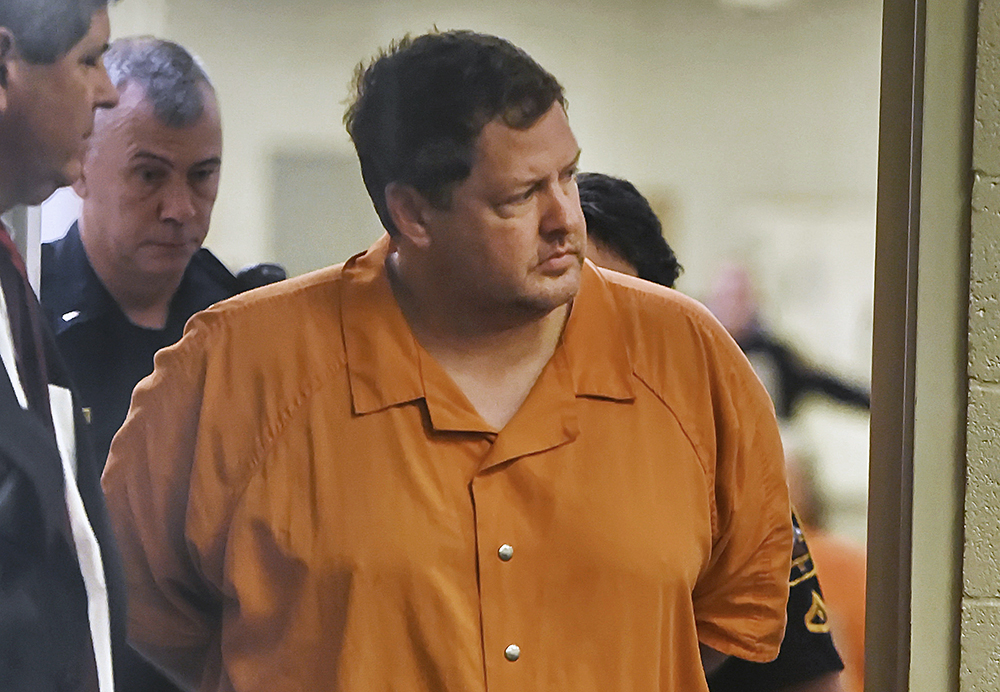 Todd Kohlhepp enters the courtroom for a bond hearing at the Spartanburg Detention Facility in Spartanburg, S.C., on Nov. 6, 2016.