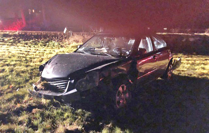 Sarah George-Smith, 22, of Arundel lost control of her Kia Optima when she tried to avoid hitting a deer, police said.
