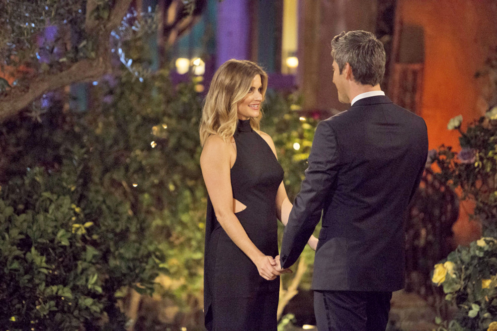 "Chelsea Roy of South Portland meets  Arie Luyendyk Jr. in a scene from the upcoming season of ""The Bachelor"" on ABC. The episode airs Jan. 1, 2018, at 8 p.m."