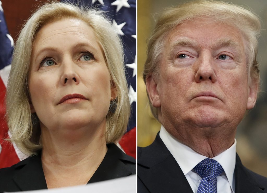 Sen. Kirsten Gillibrand, D-N.Y., calls for a congressional investigation into allegations of sexual misconduct against the president, because its