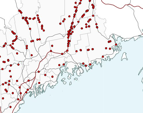 Interactive Map See Where Maine Drivers Crashed Into Moose In The