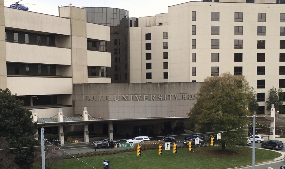 Both UNC and Duke University, which runs the hospital above, deny the existence of a no-hire agreement that an antitrust lawsuit claims was reached by top school administrators to avoid the cost and disruption when one college hires faculty or doctors away from the other.