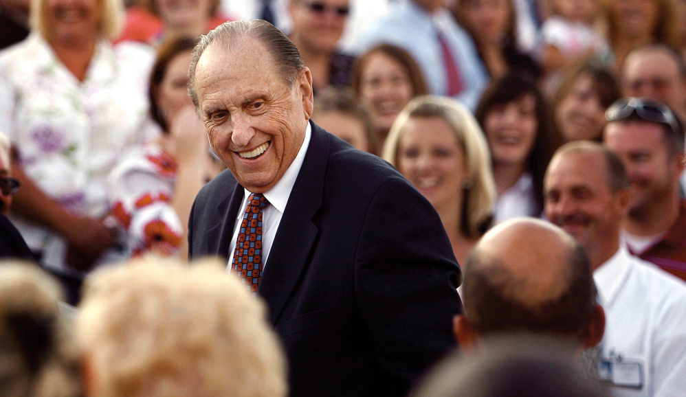 Thomas S. Monson was president of the Church of Jesus Christ of Latter-day Saints since 2008.  His tenure included a time when Mormonism was often at the center national news.