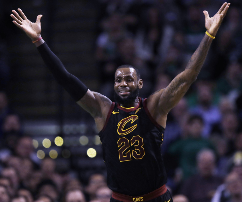 LeBron James of the Cleveland Cavaliers praised a Boston Celtics defense that limited his team to 88 points Wednesday night – a low for the season. Boston won, 102-88.