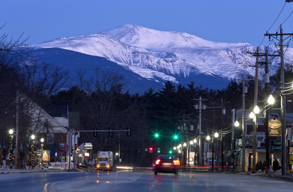 A hiker was rescued on the Ammonoosuc Ravine Trail on Mount Washington on Wednesday when she became lost. This is a view of the mountain at dawn from North Conway, New Hampshire, in 2015.