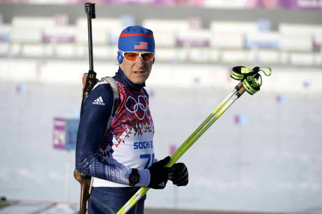 Maine native Russell Currier, shown competing in the men's individual biathlon at the 2014 Sochi Olympic Winter Games, earned his spot on the 2018 team on Saturday.