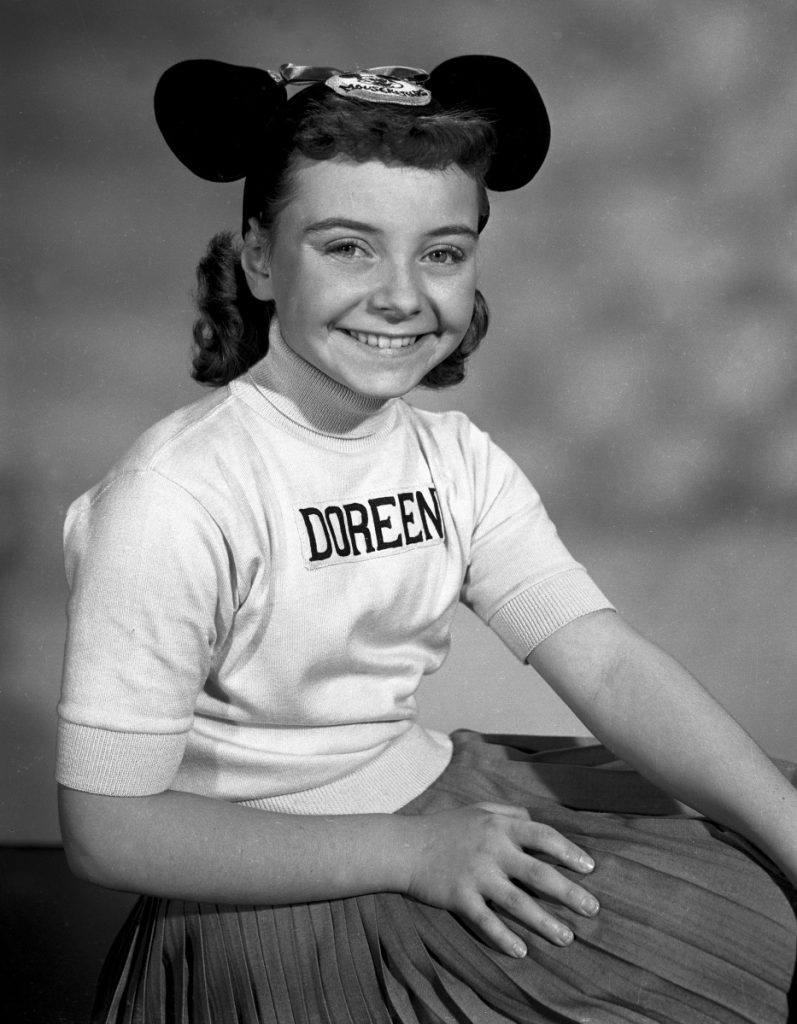 "Doreen Tracey played one of the original Mouseketeers on ""The Mickey Mouse Club."""