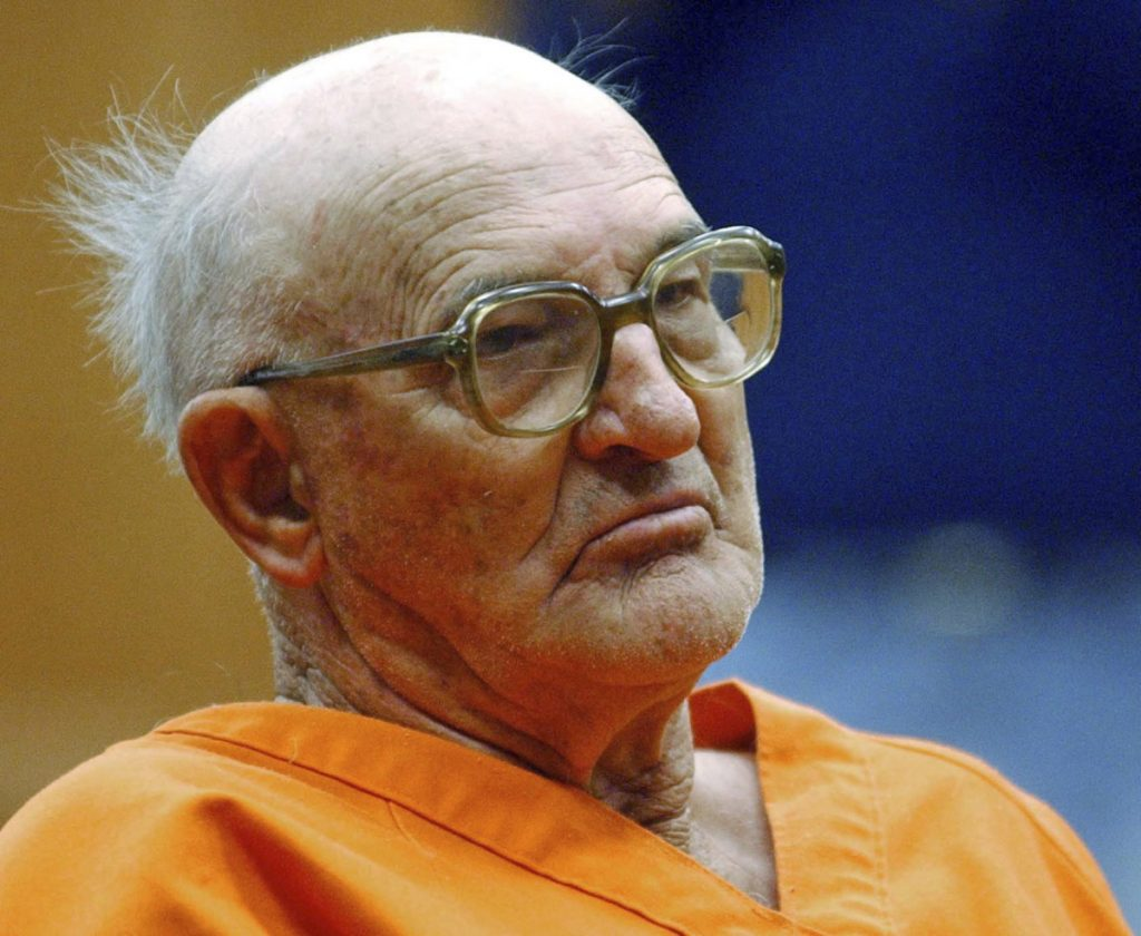 Former Ku Klux Klan leader Edgar Ray Killen, who died Thursday, sits in court in Philadelphia, Miss., in 2005.