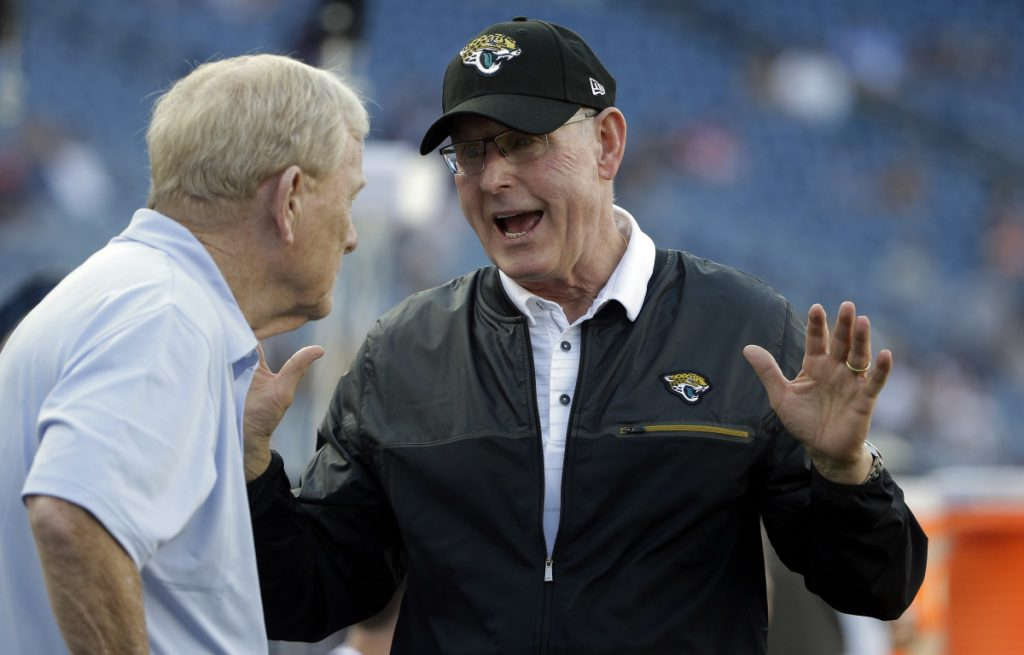 Tom Coughlin twice figured how to beat the Patriots in the playoffs, on the biggest stage, as coach of the New York Giants. Now the executive vice president of football operations for the Jaguars, Coughlin brings his team to Foxborough, Mass., on Sunday for the AFC title game.