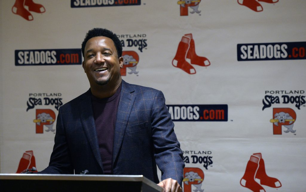 "Former Red Sox pitcher Pedro Martinez, now a team adviser, agrees with fans who are hoping for the addition of a power hitter, saying ""I still believe we need another big bat."""