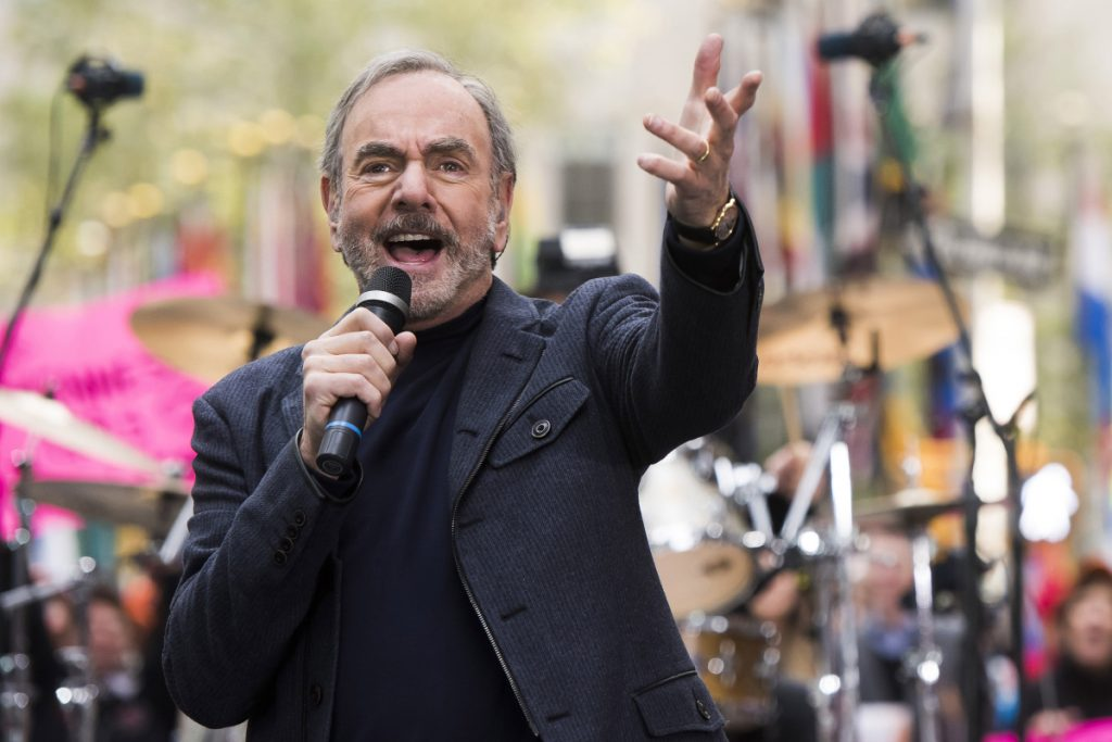 "Neil Diamond, performing in October 2014, told fans Monday: ""This ride has been 'so good, so good, so good' thanks to you."""