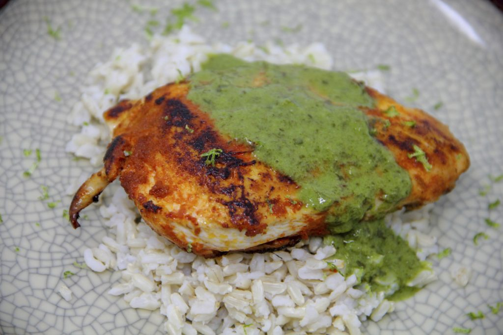 Use fragrant Thai curry paste as a rub right on thin chicken cutlets.