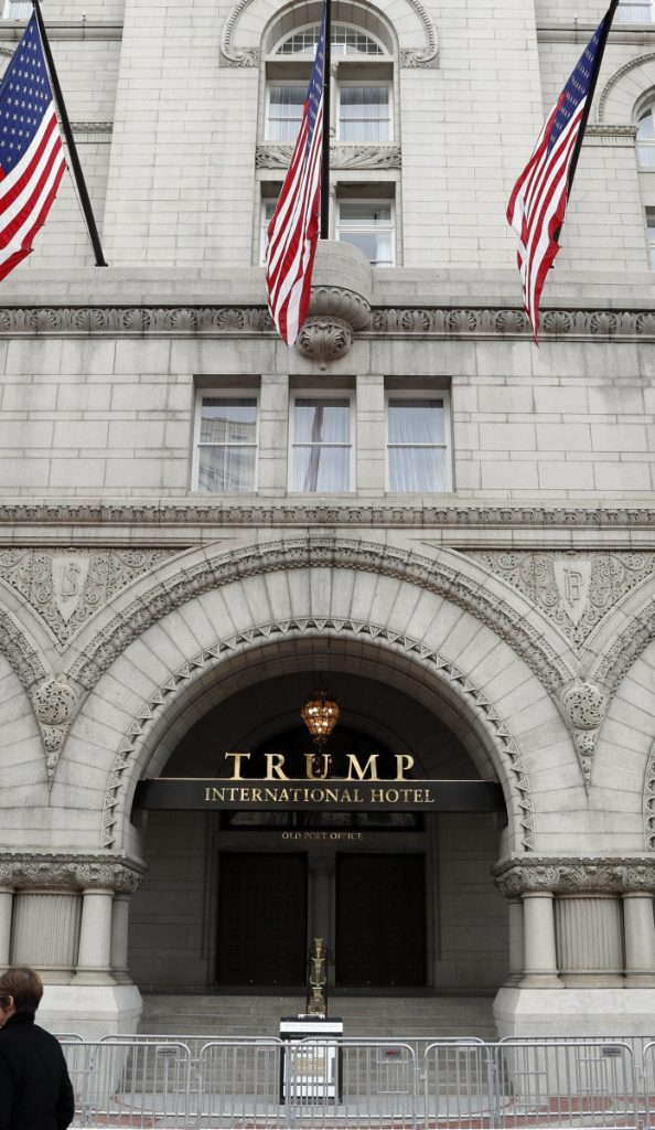 "Attorneys argue that it is not a ""foreign gift"" when foreign visitors stay at this Trump Organization hotel in D.C."