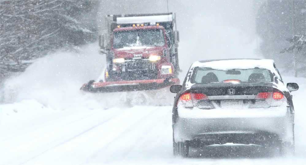 Blizzard conditions engulf central Maine, causing accidents