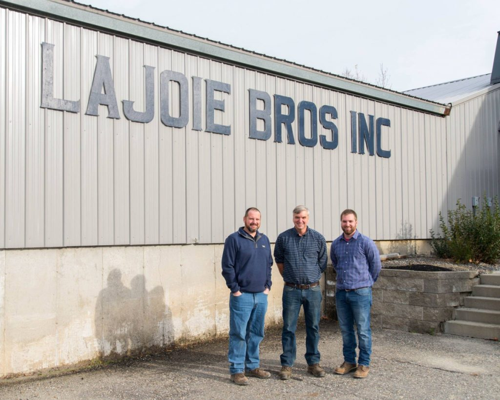 From left, Lajoie Brothers President Greg Lajoie, Vice President John Lajoie and Vice President and Treasurer Joe Lajoie stand outside their building recently on North Belfast Avenue in Augusta. Lajoie Brothers Inc. has been named the Kennebec Valley Chamber of Commerce Large Business of the Year. The company is scheduled to be honored at the Kenney Awards, the chamber's annual awards event, on Jan. 26 at the Augusta Civic Center.