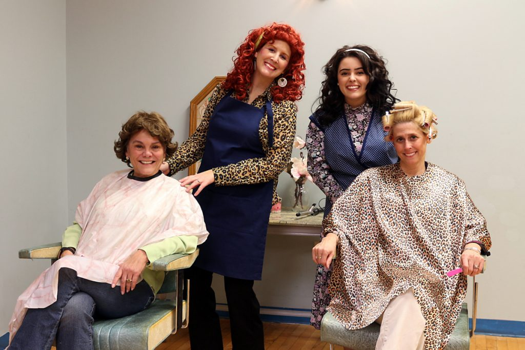 "The cast of ""Steel Magnolias"" in front, from left are Clairee Belcher, played by Nancy Keegan Carbone, and M'Lynn Eatenton, played by Lisa Ed Neal. In back, from left are Truvy Jones, played by Juli Brooks Settlemire, and Annelle Dupuy-Desoto, played by Emily Cates."