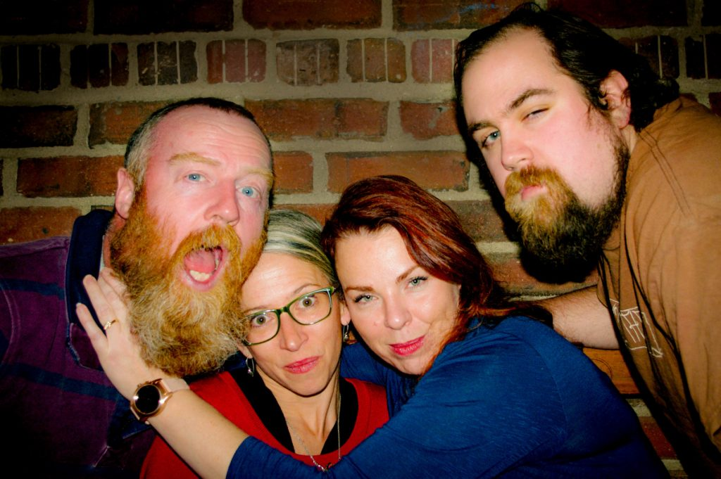 From left are Mike Clements, Michelle Sweet, Wendi Richards and Jake Junkins.
