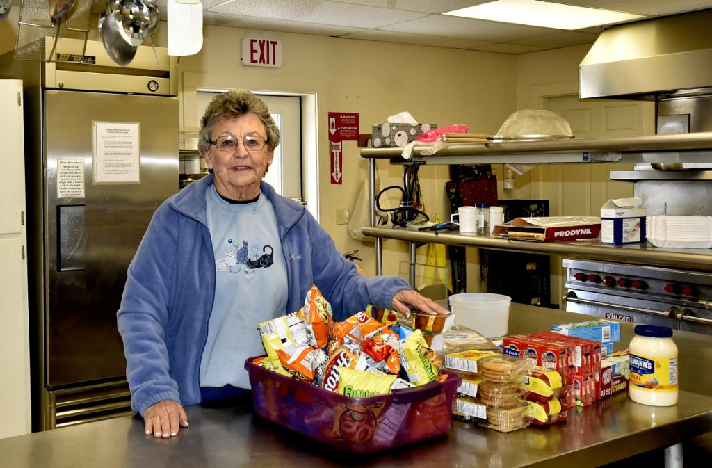 Lois Hammann, of the Skowhegan Federated Church, and other volunteers have organized a Grab and Go program that offers bagged take-out meals from 4 to 5 p.m. at the kitchen at Tewksbury Hall beginning Wednesday and every Wednesday thereafter. The program has been organized to replace the soup kitchen that has closed at Notre Dame de Lourdes Church.