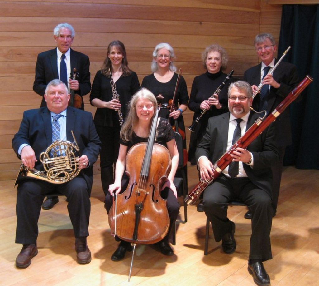 In back, from left, are Sydney Sewall, Necia Chaparin, Mary Ellen Tracy, Louise Foxwell and Chris Lansley. In front, from left, are Lee Lenfest, Kristi Mann and Chris Falcone.