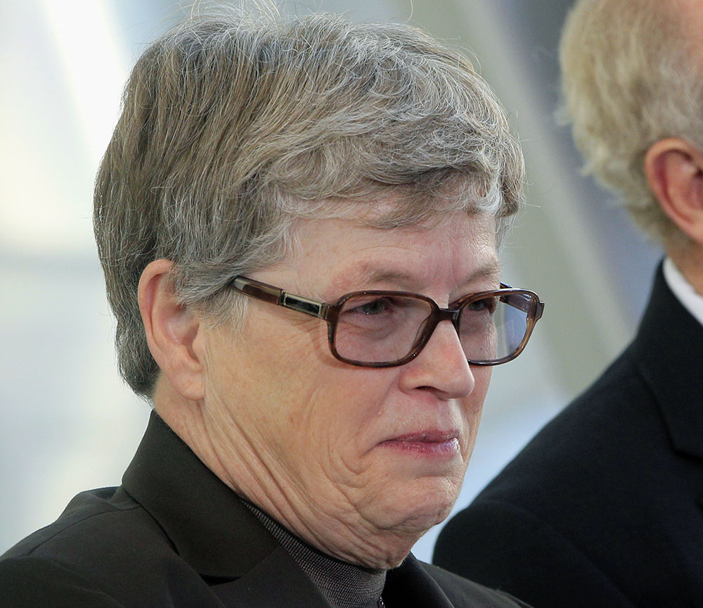 Michigan State University President Lou Anna K. Simon, seen in 2012, is resigning because of the crimes committed by Larry Nassar, who was a doctor at the university.