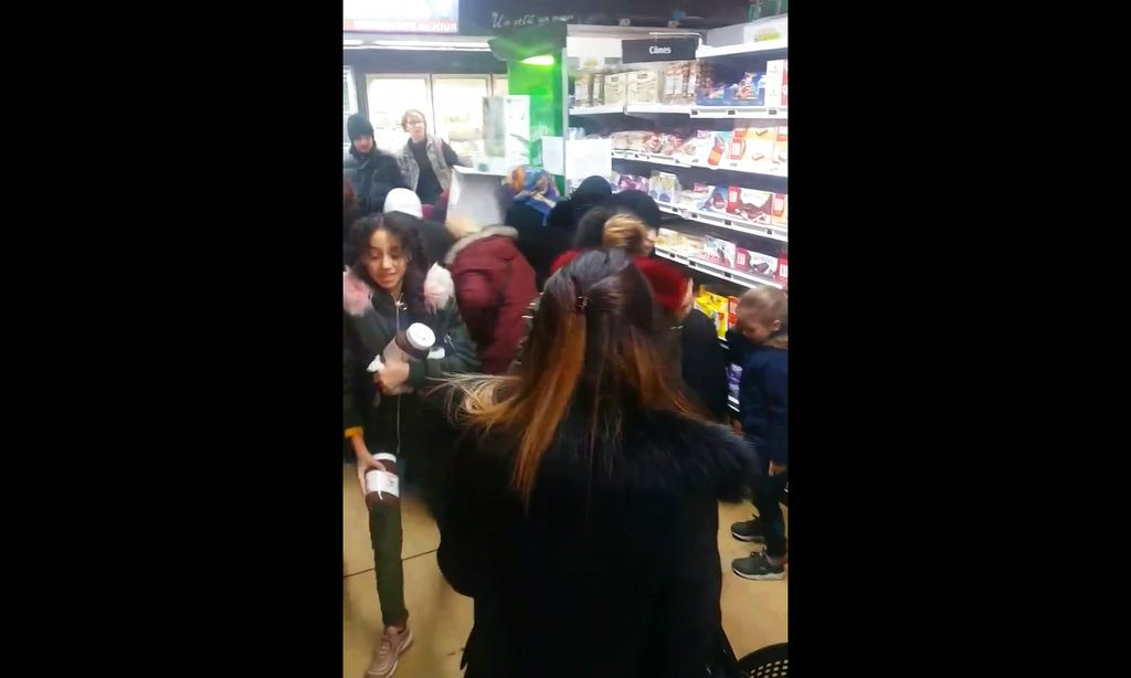 Brawls broke out in French supermarkets on Thursday as shoppers scrambled to get their hands on discounted pots of the chocolate and hazelnut spread Nutella.
