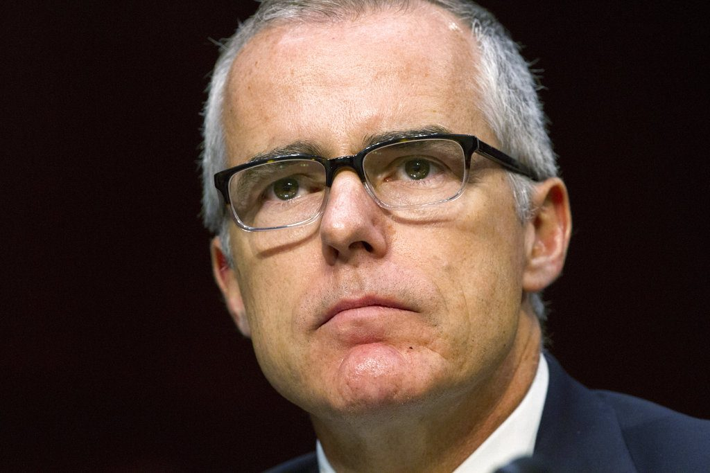 FBI Deputy Director Andrew McCabe is leaving his position ahead of a previously planned retirement this spring.  Two people familiar with the decision described it to The Associated Press on condition of anonymity Monday. The move is effective Monday.