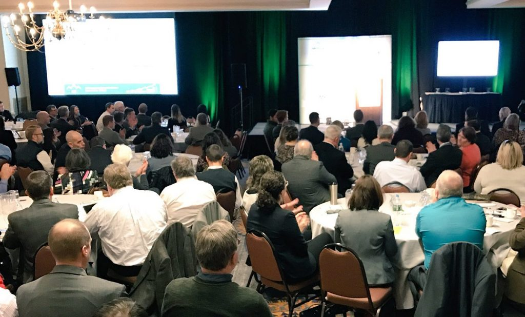 Hundreds of Maine real estate brokers, agents, developers and other professionals gathered in Portland on Thursday for the 2018 Maine Real Estate and Development Association forecasting conference.