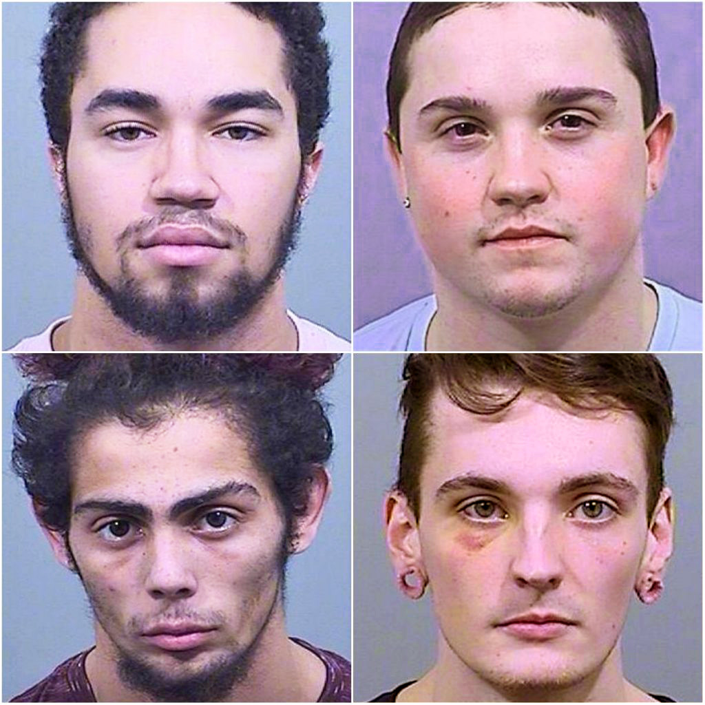 Clockwise from top left: Jeffrey Cochran, Jacob Demmons, Austin Swanson-Monge, Demonte Loureiro