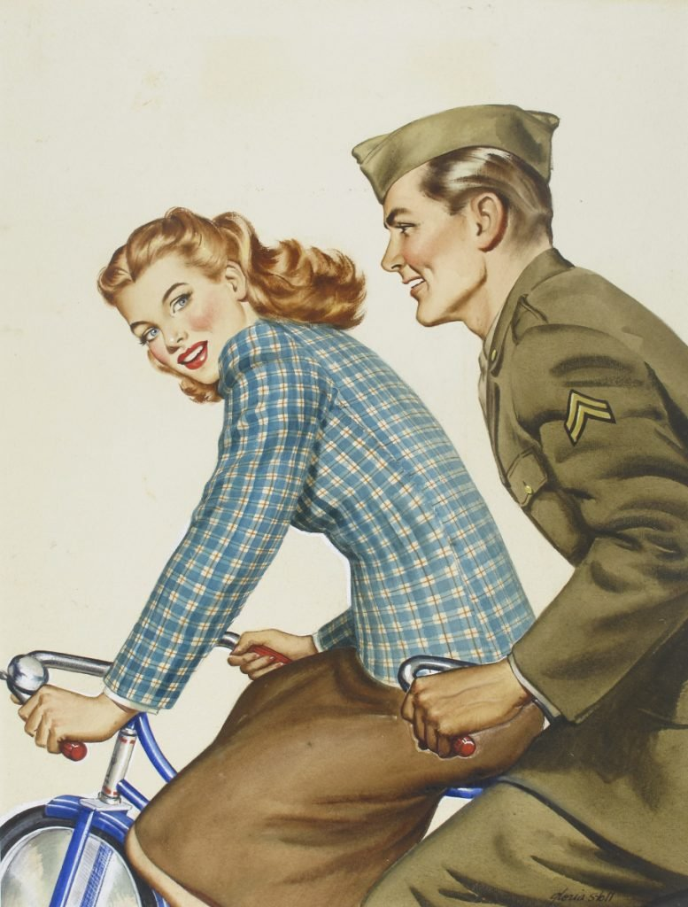 The 1944 watercolor-on-board painting