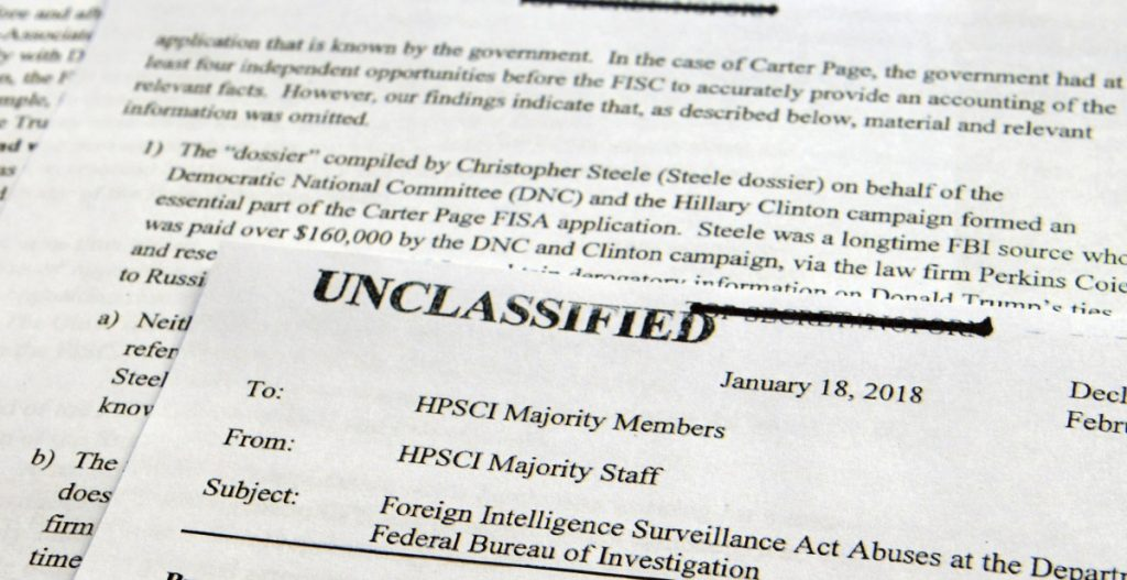 The House Intelligence Committee released the Republican memo after President Trump declassified it. Associated Press/Susan Walshbv