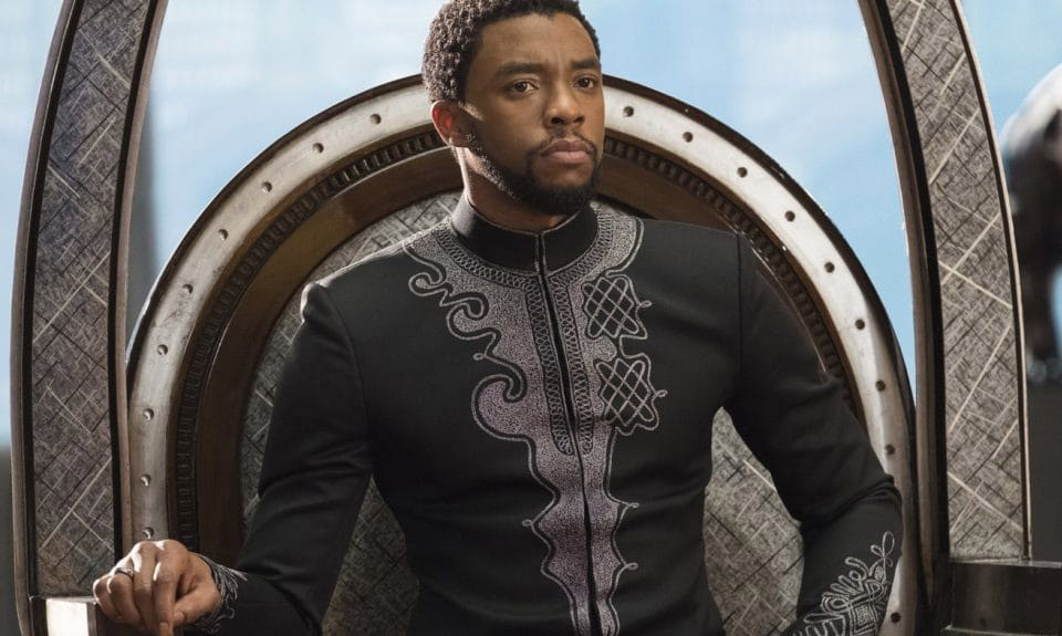 Above, T'Challa (Chadwick Boseman) rules over the early reviews of