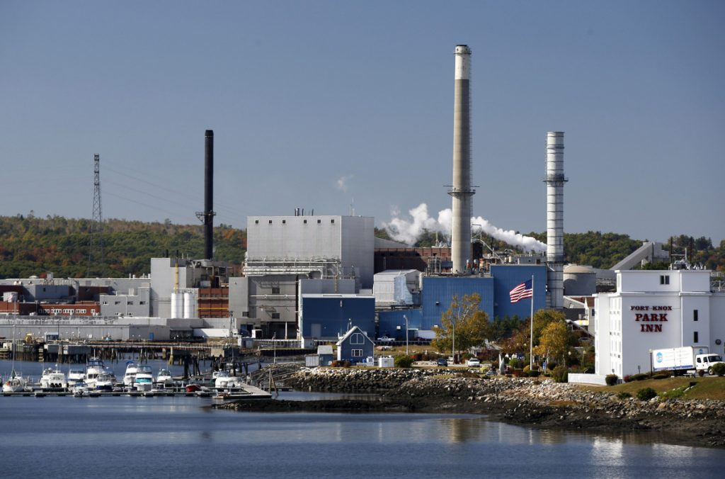Whole Oceans plans to build a $250 million salmon farm in Bucksport at the site of the former Verso paper mill, seen in 2014. The Portland company hopes to employ 200.