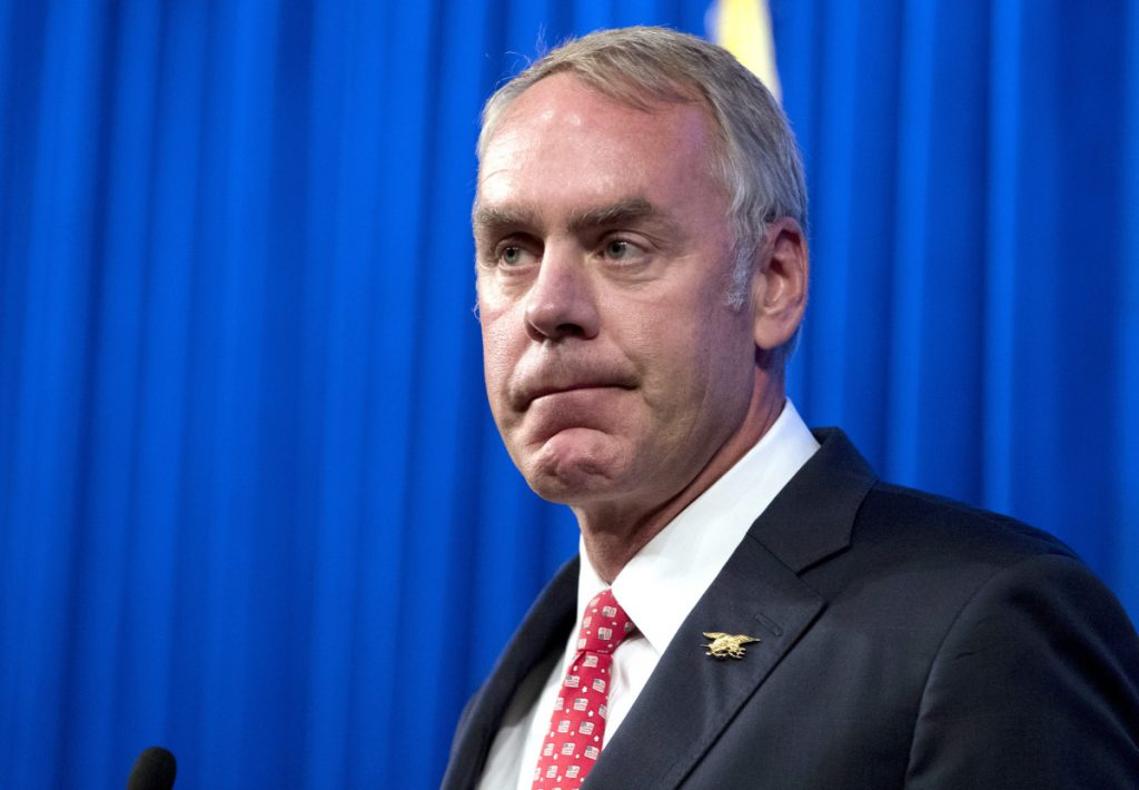 "Interior Secretary Ryan Zinke has argued that an Obama-era rule limiting methane emissions ""penalizes oil and gas."""